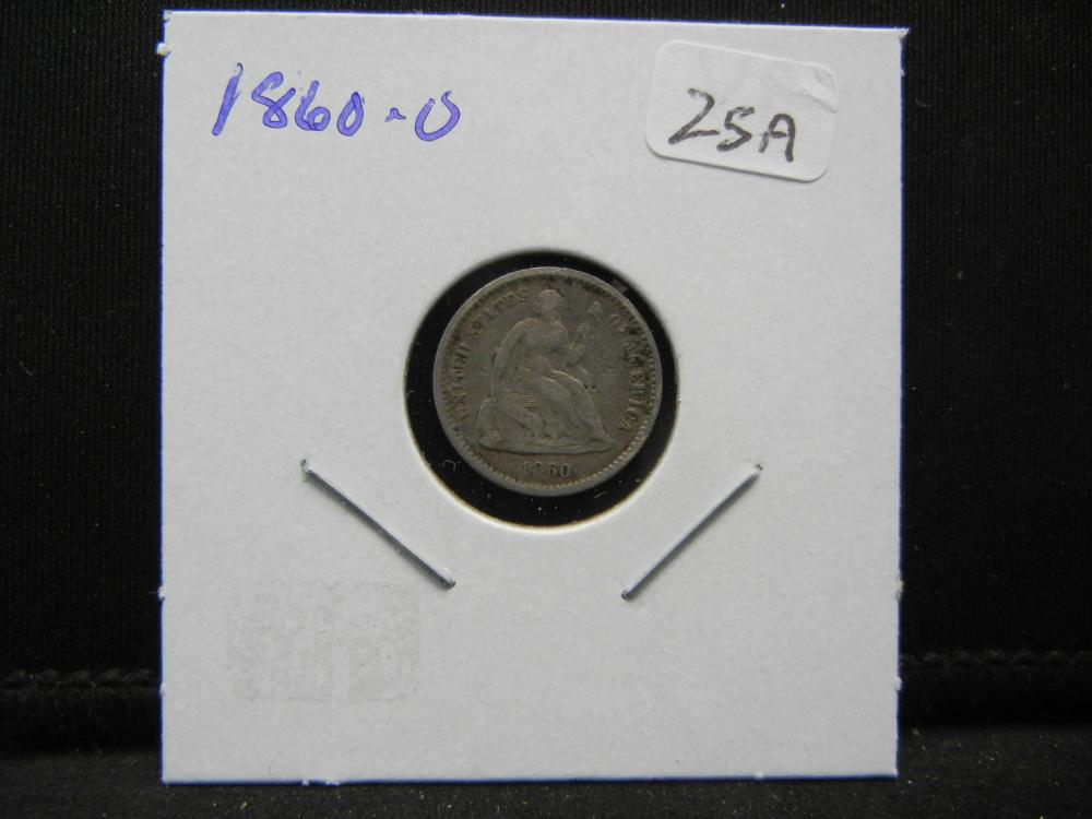 Lot 25A: 1860-O US Half Cent. Very Fine.