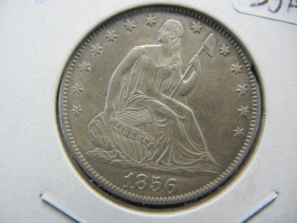 Lot 33A: 1856-O Seated Half. Almost Uncirculated Detail.