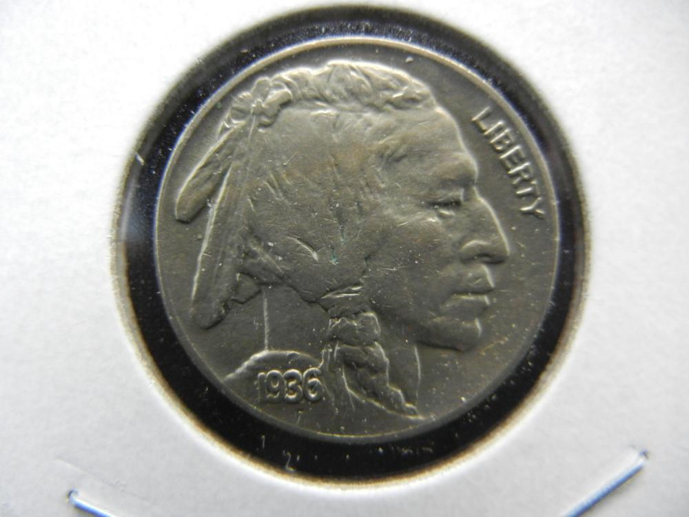 1936 Buffalo Nickel.  Extremely Fine.