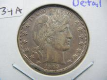 Lot 34A: 1903-O Barber Half. Almost Uncirculated Detail. Rim Nick.