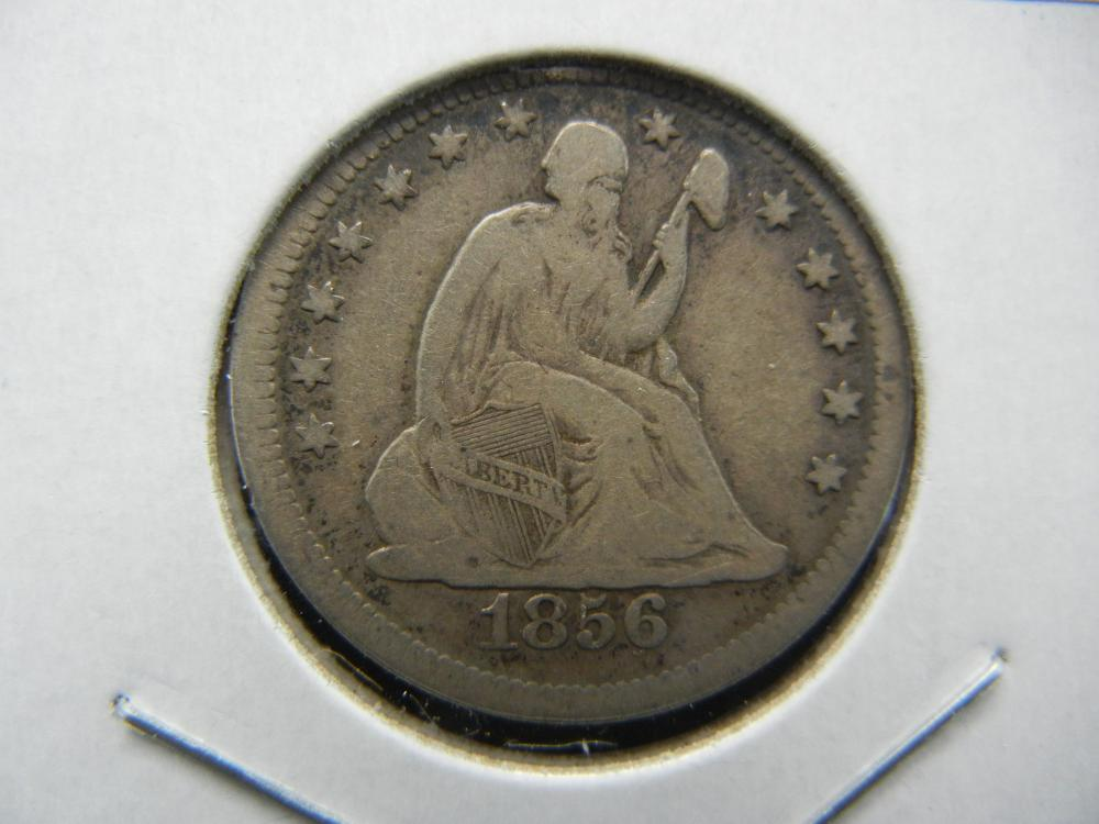Lot 30A: 1856 Seated Quarter. Very Fine.