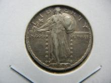 Lot 31A: 1929-S Standing Liberty Quarter. Nice Very Fine.
