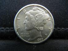 Lot 22S: 1927 Mercury Dime