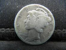 Lot 21S: 1924 Mercury Dime