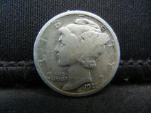 Lot 16S: 1921-D Mercury Dime