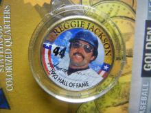Lot 69C: (BASEBALL LEGEND'S/REGGIE JACKSON-1993 HALL OF FAME), 24 K GOLD PLATED/COA, SEALED, Encapsulated For Future Preservation