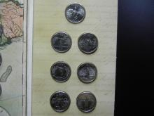 Lot 11Y: US Mint Formation of The Union State Quarter Set - $6.50 Face