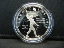 Lot 13Y: US Mint 2006 Benjamin Franklin Commemorative $1 Proof Silver Coin