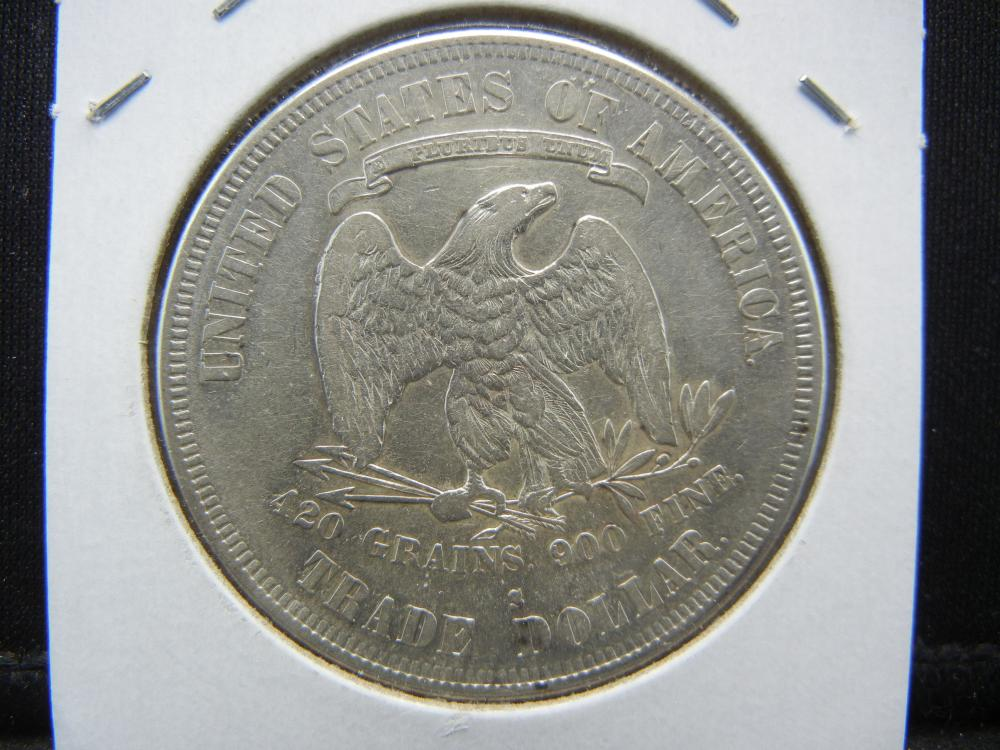 Lot 36A: 1878-S US Trade Dollar. Very Fine detail.