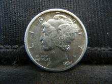 Lot 32S: 1934-D Mercury Dime