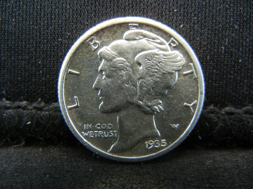 Lot 29S: 1935-S Mercury Dime