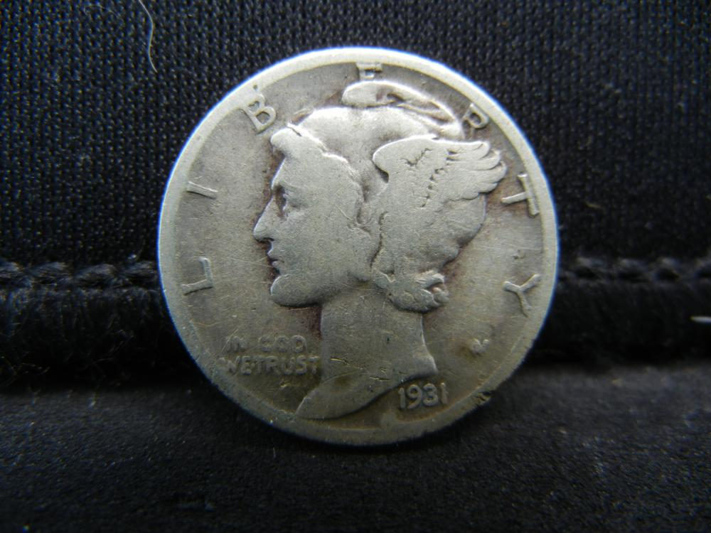 Lot 34S: 1931-D Mercury Dime