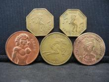 Lot 80C: (5) Lewd Tokens