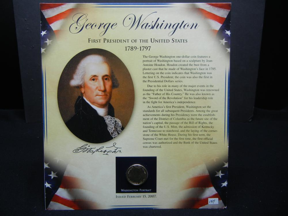 George Washington $1 Presidential Coin & Stamp Set