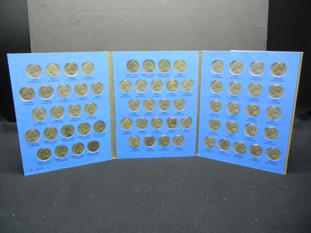 1938-1961 Jefferson Nickel Collection - Complete Set