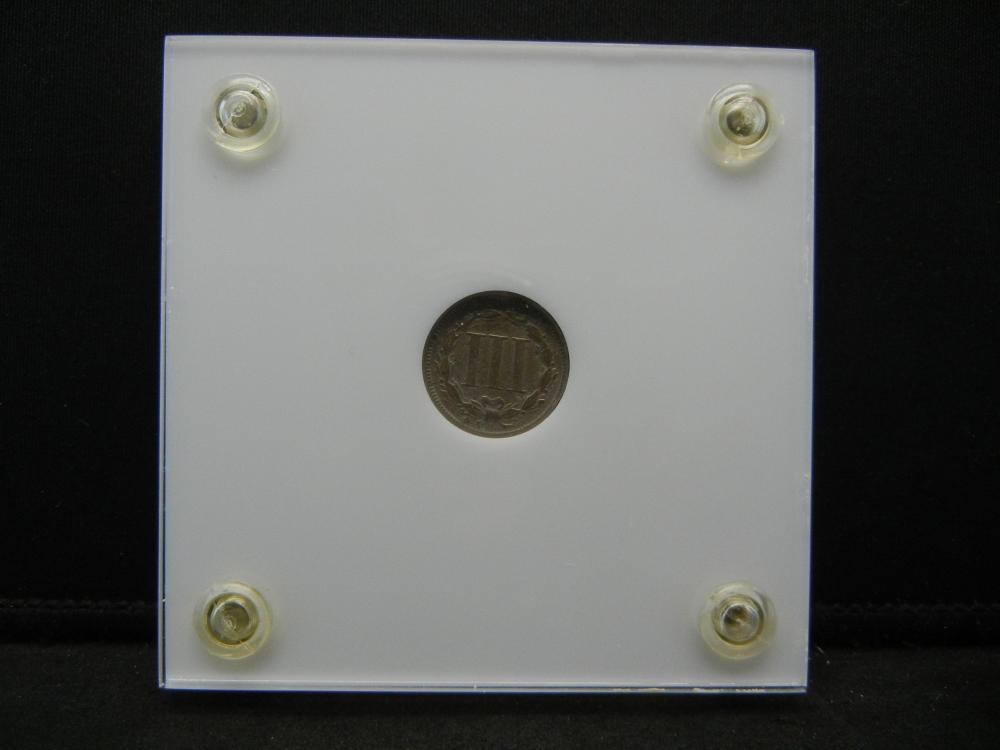 Lot 30Y: 1866 3 Cent Nickel - Capital Plastics Holder