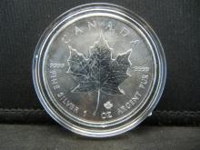 Lot 34Y: 2017 Canada $5 .999 Fine Silver 1oz Coin - Brilliant Uncirculated