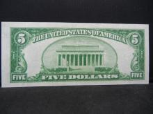 Lot 31Y: 1934-A $5 Silver Certificate - Crisp Uncirculated - Beautiful!