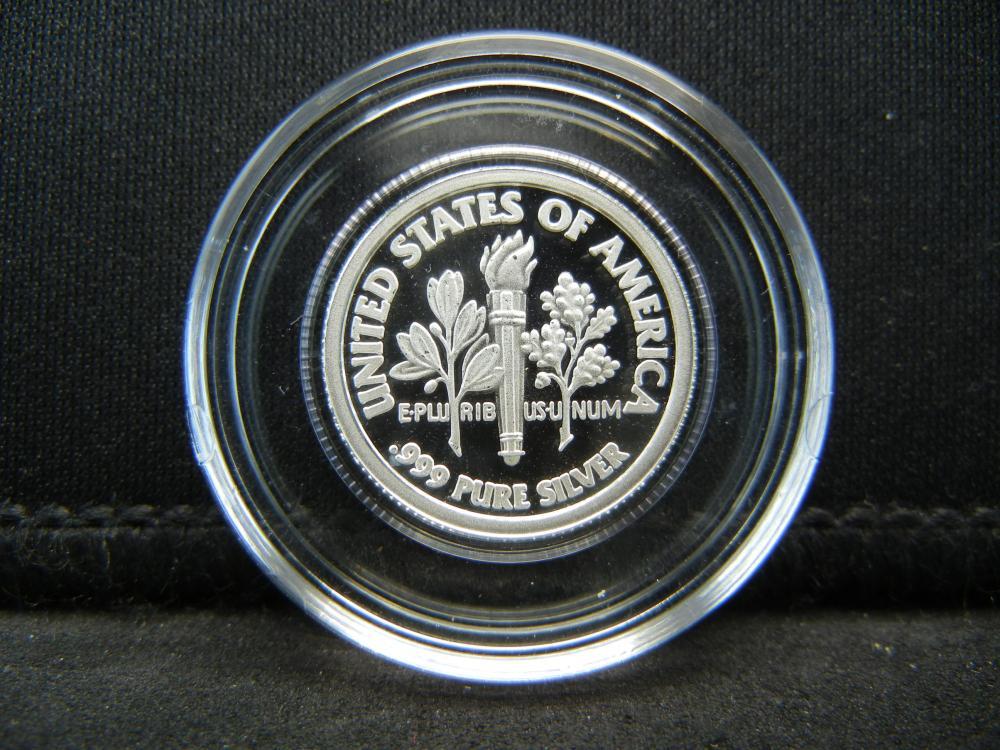 Lot 35Y: 2006 Ronald Reagan .999 Silver Proof Dime - Rare