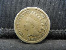 Lot 19Y: 1863 C/N Indian Head Cent