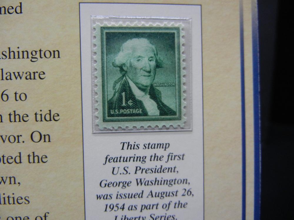 Lot 15Y: George Washington $1 Presidential Coin & Stamp Set