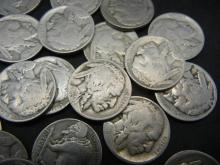 Lot 44: (40) Part Date Buffalo Nickels. Some early dates. Circulated.