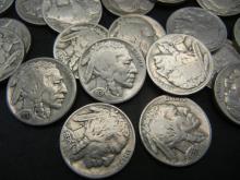 Lot 44A: (40) Full Date Buffalo Nickels. Nice Circulated.