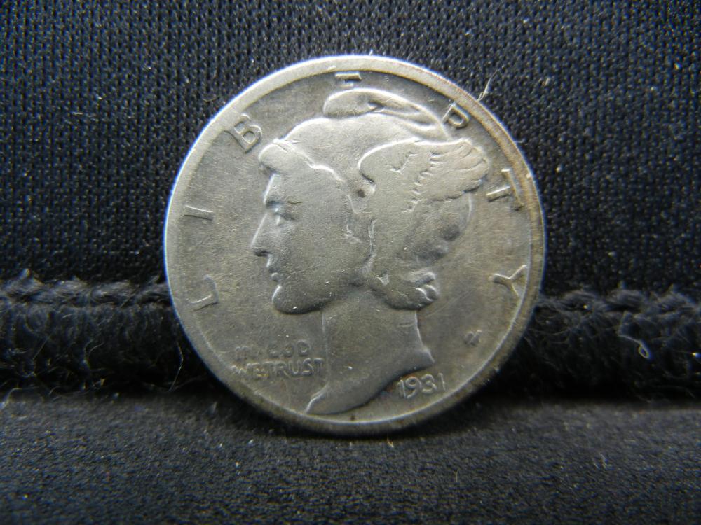 Lot 41S: 1931-S Mercury Dime