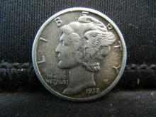 Lot 42S: 1938 Mercury Dime