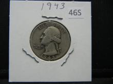 Lot 46S: 1943 Washington Quarter