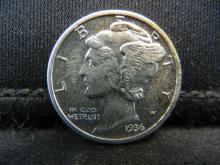 Lot 40S: 1936 Mercury Dime