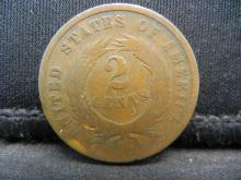 Lot 20Y: 1865 2 Cent piece