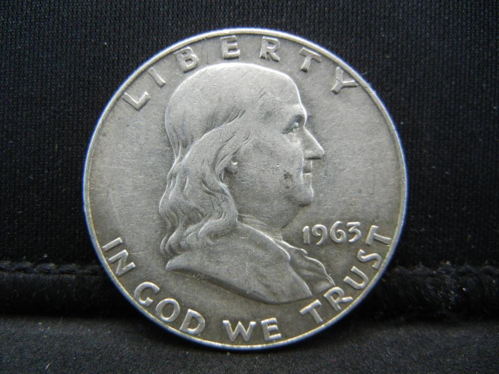 Lot 27Y: 1963-D Franklin Half Dollar