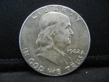 Lot 26Y: 1962 Franklin Half Dollar