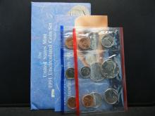 Lot 50: 1991 P and D US Mint Set. In government package. GEM Uncirculated.