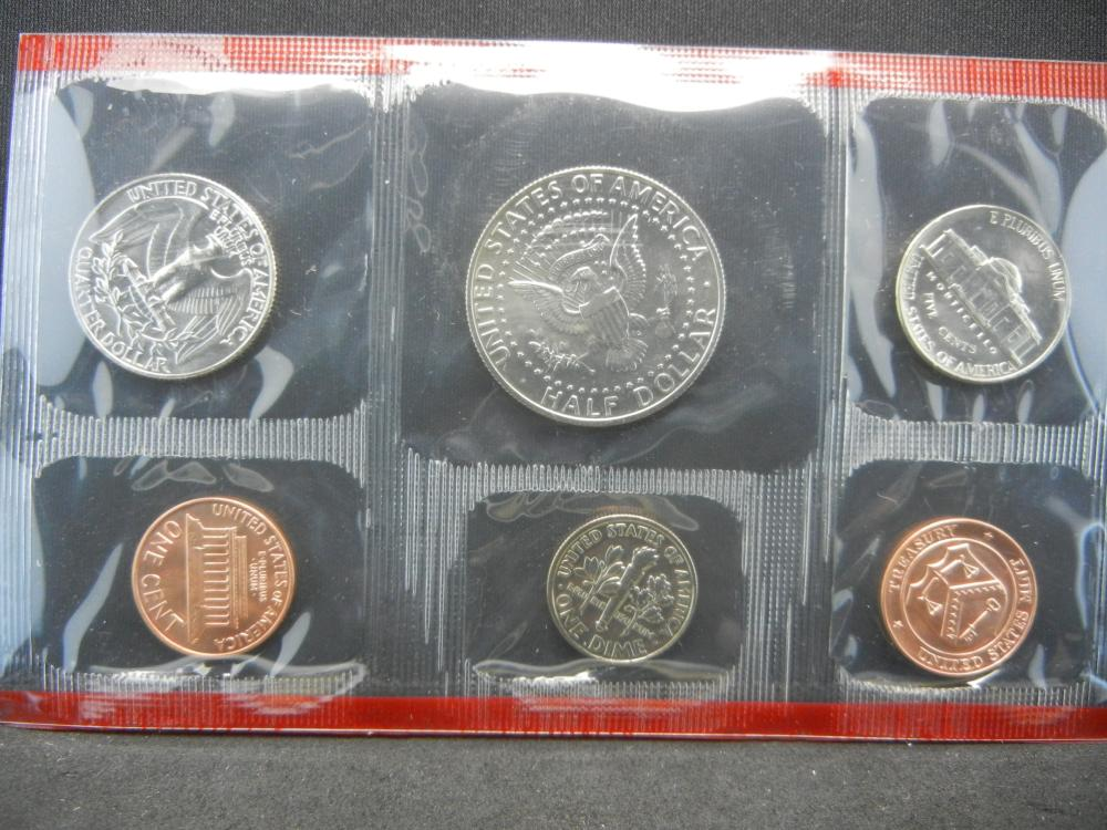 Lot 49A: 1990 P and D US Mint Set. In government package. GEM Uncirculated.