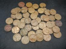 Lot 49S: 50 S-Mint Lincoln Wheat Cents
