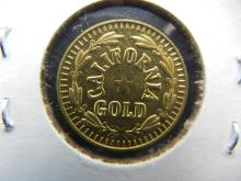 Lot 50S: CLAD 1852 California Gold Token