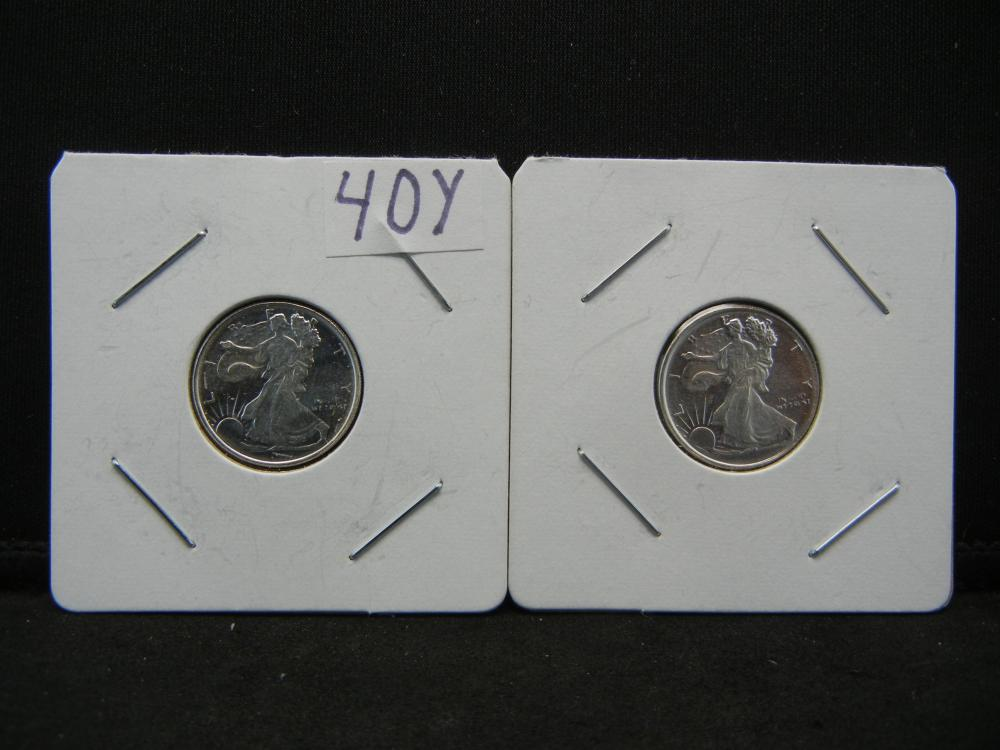 Lot 40Y: 1/10oz .999 Silver Walking Liberty Proof Coins - Lot of 2