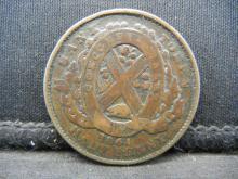 Lot 41Y: 1844 Canada Half Penny Token - Bank of Montreal