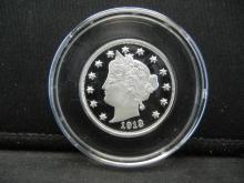 Lot 39Y: 1/4oz .999 Silver Proof V-Nickel Proof Coin