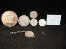 5 Mixed South Africa Coins 80% Silver