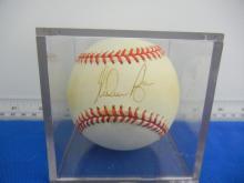 Nolan Ryan Autographed OAL Budig Baseball
