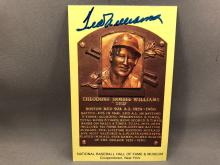 Ted Williams Autographed HOF Plaque Postcard - No certificate of authenticity