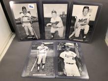 Lot of 5 J.D. McCarthy Postcards - Pete Rose, Whitey Ford, Brooks Robinson, Harmon Killebrew, Bob Gibson