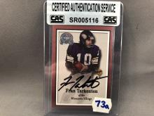 Fran Tarkenton Autographed Card - CAS Authentication