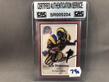 Eric Dickerson Autographed Card - CAS Authentication
