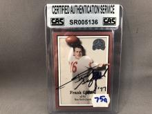 Frank Gifford Autographed Card - CAS Authentication