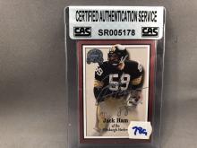 Jack Ham Autographed Card - CAS Authentication