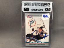 Larry Csonka Autographed Card - CAS Authentication